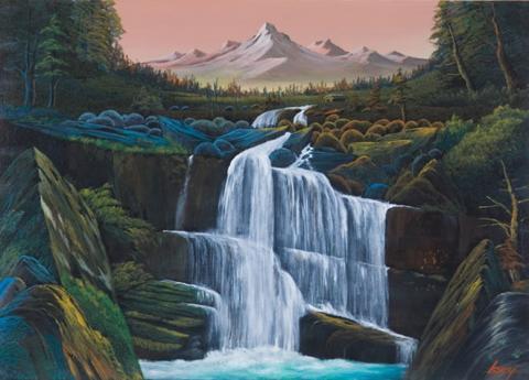 景色のいい滝