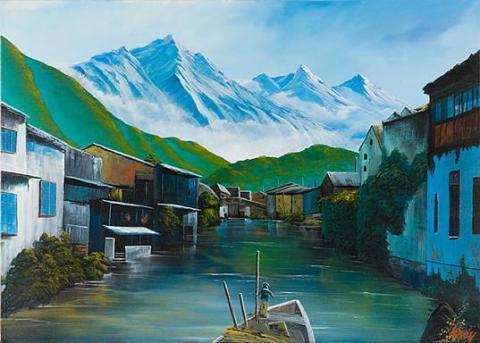 ヒマラヤ・水郷の村