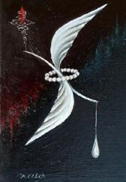 シュルレアリスム作家 maゆ。 油彩画「精神の離合」M3号