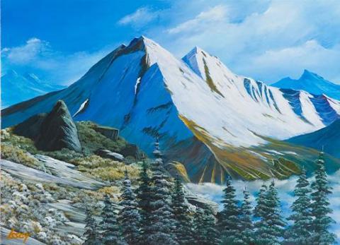 雄大な北アルプスの・・・とっても寒い雪山風景です。