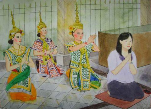 バンコクを中心に水彩画を描いています。 - 3