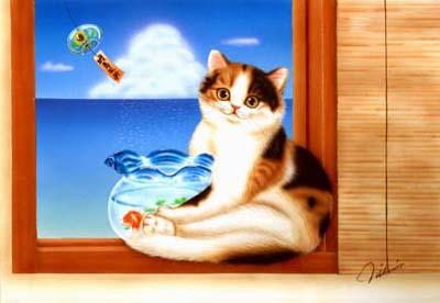 涼を求めて〜猫〜