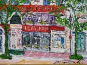 鈴木マサハル 油彩画「パリのキャフェ」SM号