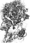 ペン画 「悪魔が来たりて」