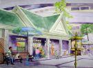 バンコクを中心に水彩画を描いています。 - 1